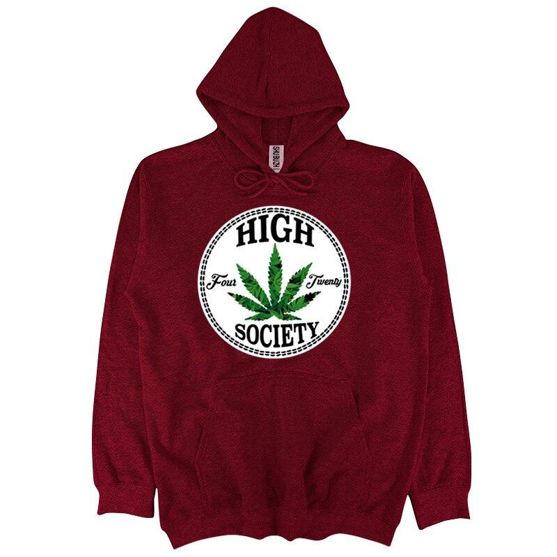 Four Twenty 420 Stoner High Weed Baked Baseball Script 2-tone Hoodie Pullover