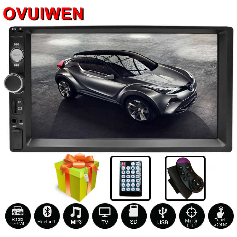 "Doble Din coche Radio Autoradio 7 ""HD reproductor Multimedia 2 DIN pantalla táctil Auto Audio coche estéreo MP5 Bluetooth TF USB FM Cámara"