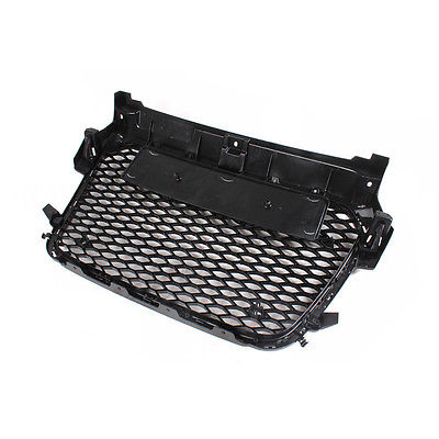 A1 RS1 Style Black Honeycomb Mesh Front Grill Grille For Audi A1 2010-2015 Car Styling