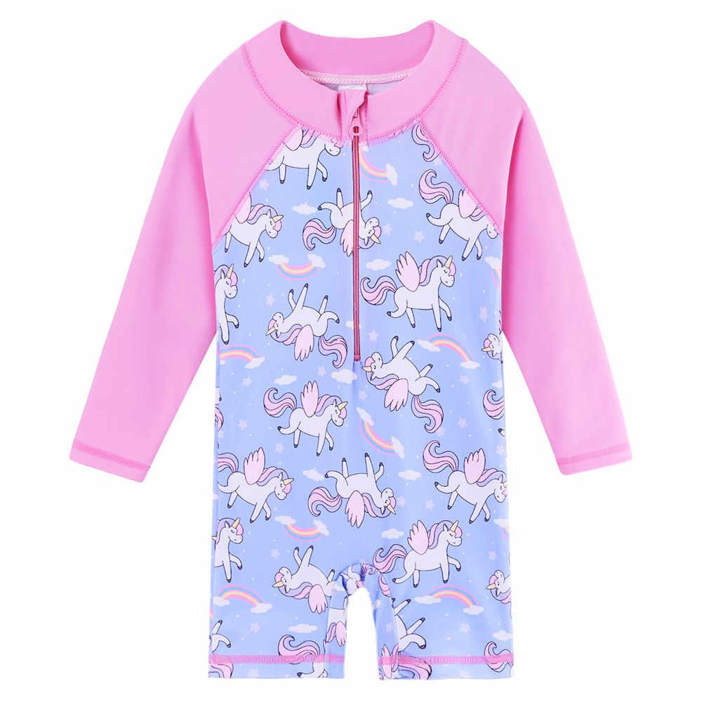 0ae847a676 BAOHULU Cartoon Baby Girl Swimwear Unicorn Kids Swimsuit Girls One Piece  Infant Toddler Swimming Suits Children