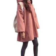Oversized Hoodies 2018 Autumn Winter Womens Long Sleeve Hooded Pullover Loose Hip Hop Streetwear Casual Warm Sweatshirt