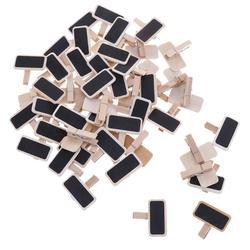 50pcs/lot  Factory Supply Blackboard Clamps Note Folder Photo Clip Mark  Chalkboards Paper Clips Message Folders Mini Wooden