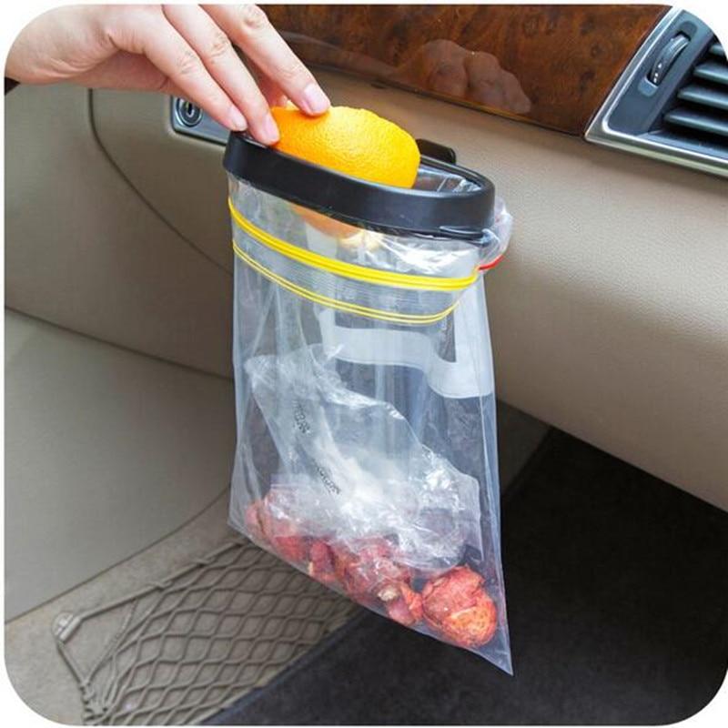 Hot Be Hanging Trash Bag Rack Shelving Car Rubbish Storage Basket