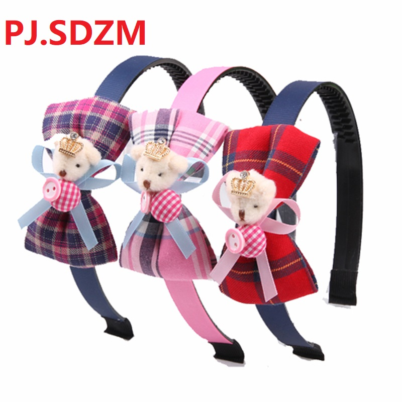 Girl Sweet Bow Knot Headband Non-slip Teeth Plaid Rabbit Hairwear Women Washing Headband Hair Accessories Much Colors