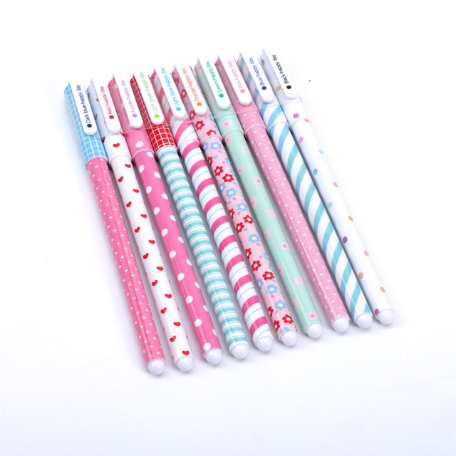 10 pcs/lot Cute Flamingo gel pens Kawaii 0.38mm 10 colors Signature pen for writing school supplies escolar 1