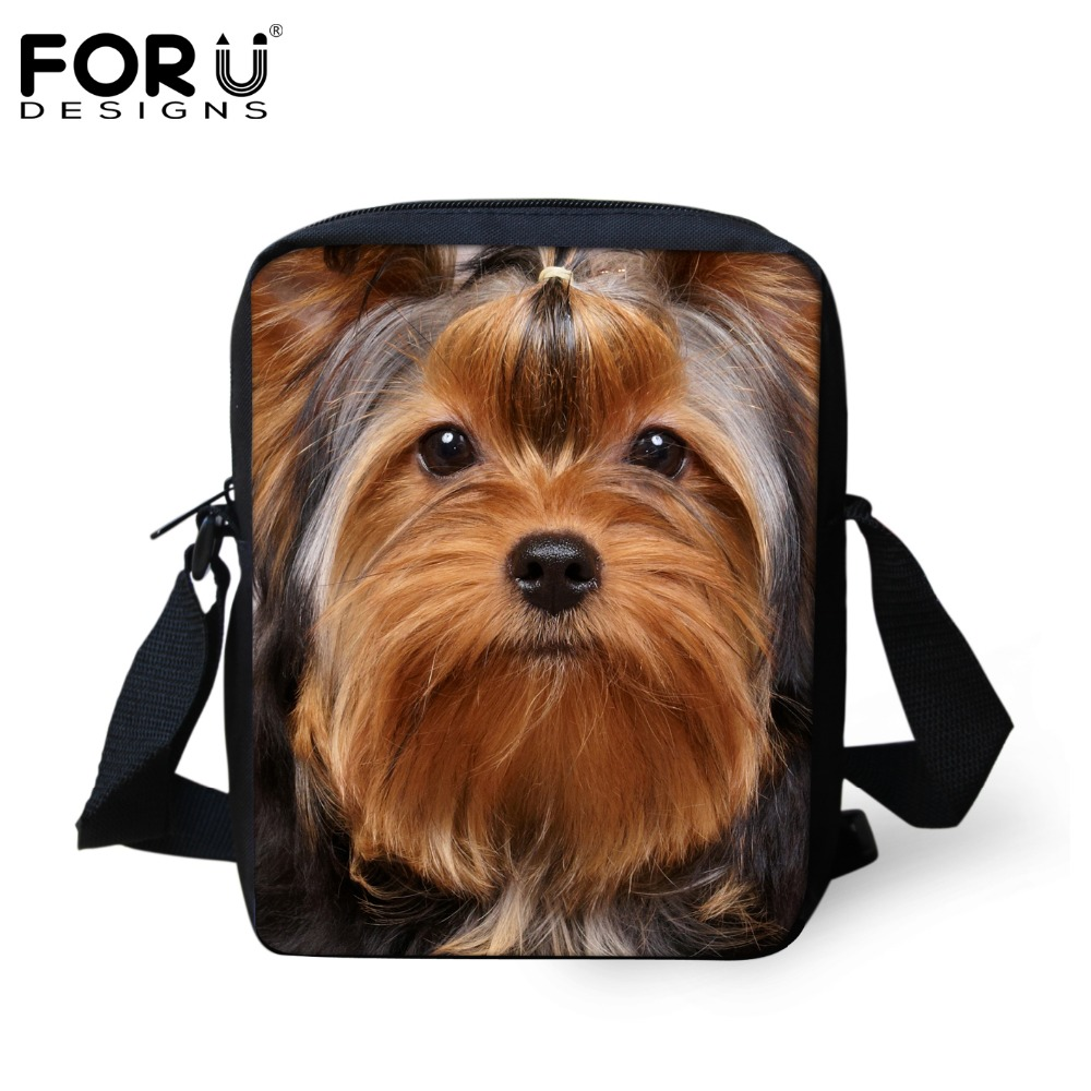 FORUDESIGNS Cute Yorkshire Terrier Dog School Bags for Girls Boys Children Schoolbag Kindergarten Baby Bookbag Kids Mini Mochila forudesigns cute cartoon winx club girls school bags small children book bag for kindergarten women shoulder bag kids mochila
