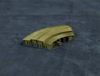 1/700 Scale WWII Era Railway Roundhouse, (resin+metal),(Metal Military Building Model,Not Assembled)
