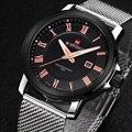 Naviforce Relojes Calientes de la Marca de Lujo de Los Hombres Relojes de Los Hombres de Negocios Reloj de Cuarzo de Acero Fecha Reloj de Cuarzo Relojes de Pulsera Relogio