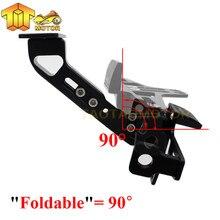 Motorcycle Adjustable Angle License Number Plate Frame Holder Bracket