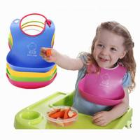 New Design Adjust Large Three Dimensional Baby Bibs Silica Gel Child Baby Bib Waterproof Meals Pocket