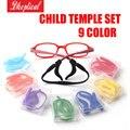 child silicone eyeglasses temple set child glasses chain ,ear temple 9 different color 10pcs wholesale