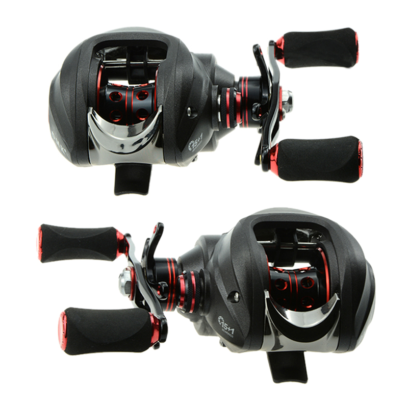 Fishing Reel 15+1 Bearings 2 Control Systems Right Left Hand Bait Casting Reel Centrifugal & Magnetic Fresh Water Anti-backlash