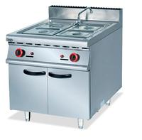 Commercial Super Quality Stainless Steel Gas Bain Marie With Cabinet Kitchen Food Equipment Wholesale Seller