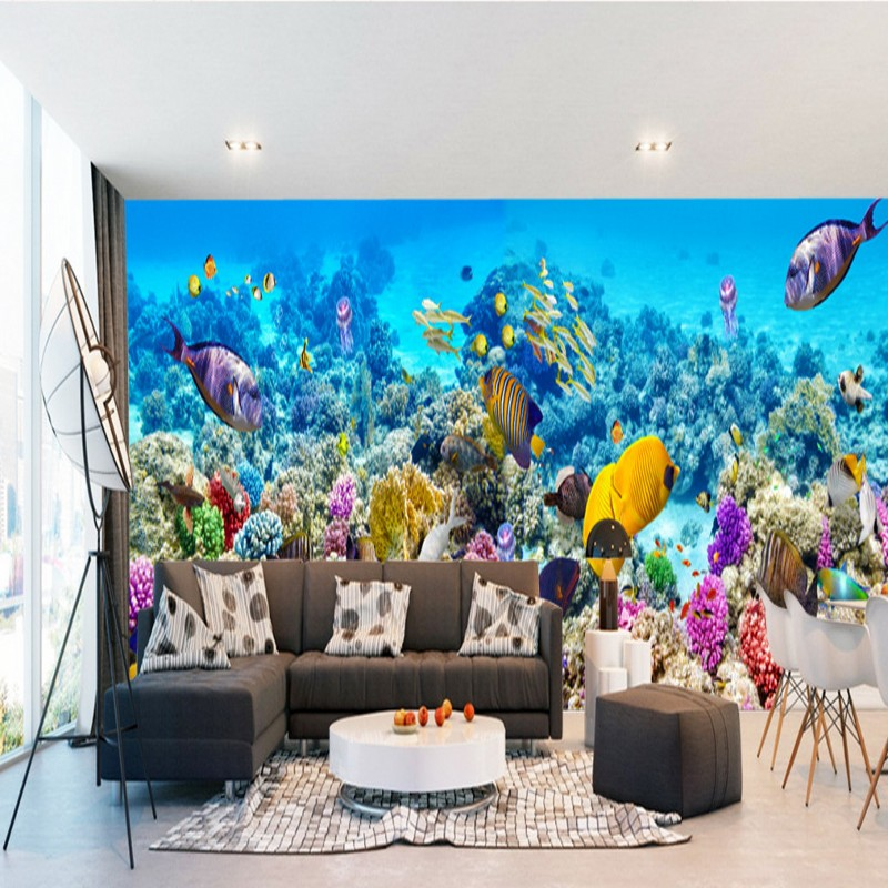 photo wallpaper 3D stereo custom mural dream underwater world theme museum full space background wallpaper image