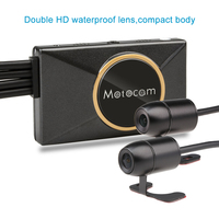 Fodsports M7F Wifi Motorcycle Camera 3 Inch Dual Lens 1080P DVR Dash Cam Front Rear View