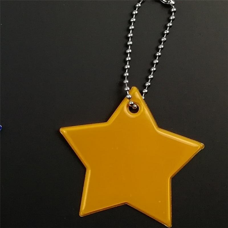 Маленькая звезда сумка брелок милый мягкий ПВХ отражающий брелок, подвеска для машины Шарм сумка Аксессуары для безопасности дорожного движения использования - Название цвета: gold