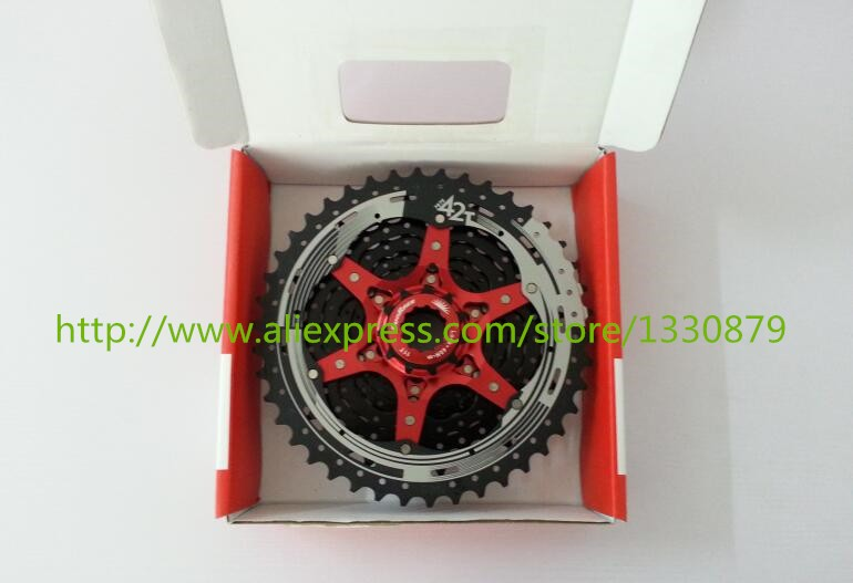 Sunrace 10 Speed Flywheel 11-42T MTB Bike Freewheel Cassette Wide Ratio Mountain Bicycle Cassette mtb mountain bike bicycle 10s cassette freewheel 8 speeds flywheel 11 13 15 18 21 24 28 32 36t teeth crankset