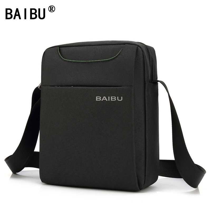 56977732e02e BAIBU Waterproof Wear-Resisting Oxford Men Crossbody Shoulder Bag High  Quality Business Leisure Brand Man