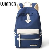 Winner Brand Solid Korean Women Backpack Canvas School Bag for Teenage Girls Students Back Pack Fringe