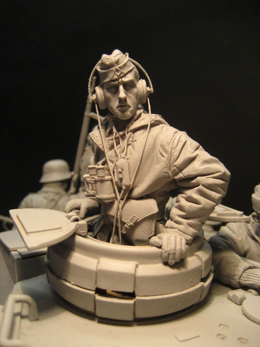 Unpainted Kit 1/16 120mm  Winter Panzer Tank Not Have Tank Figure Historical  Figure Resin  Kit