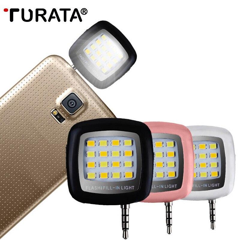TURATA Портативный Мини светодиодный Selfie Flash заполнить свет мобильного телефона Камера Pocket внимания фото видео свет лампы Speedlite для телефон
