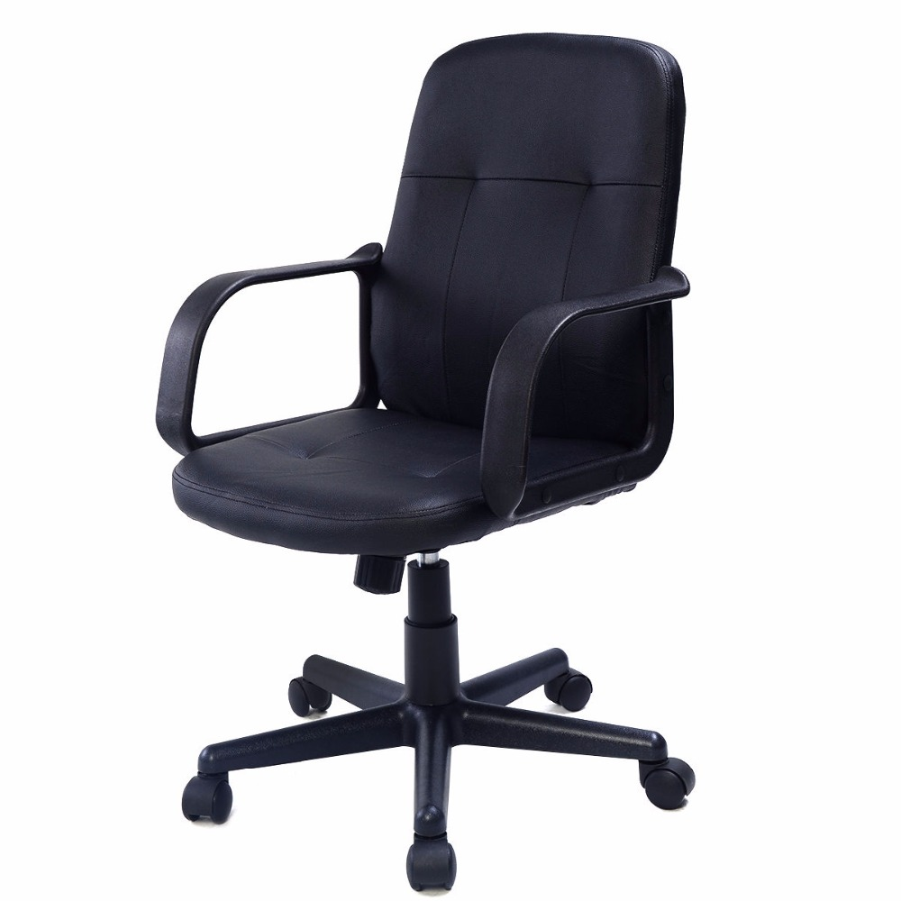 Giantex PU Leather Ergonomic Gaming Chairs Modern Midback ...