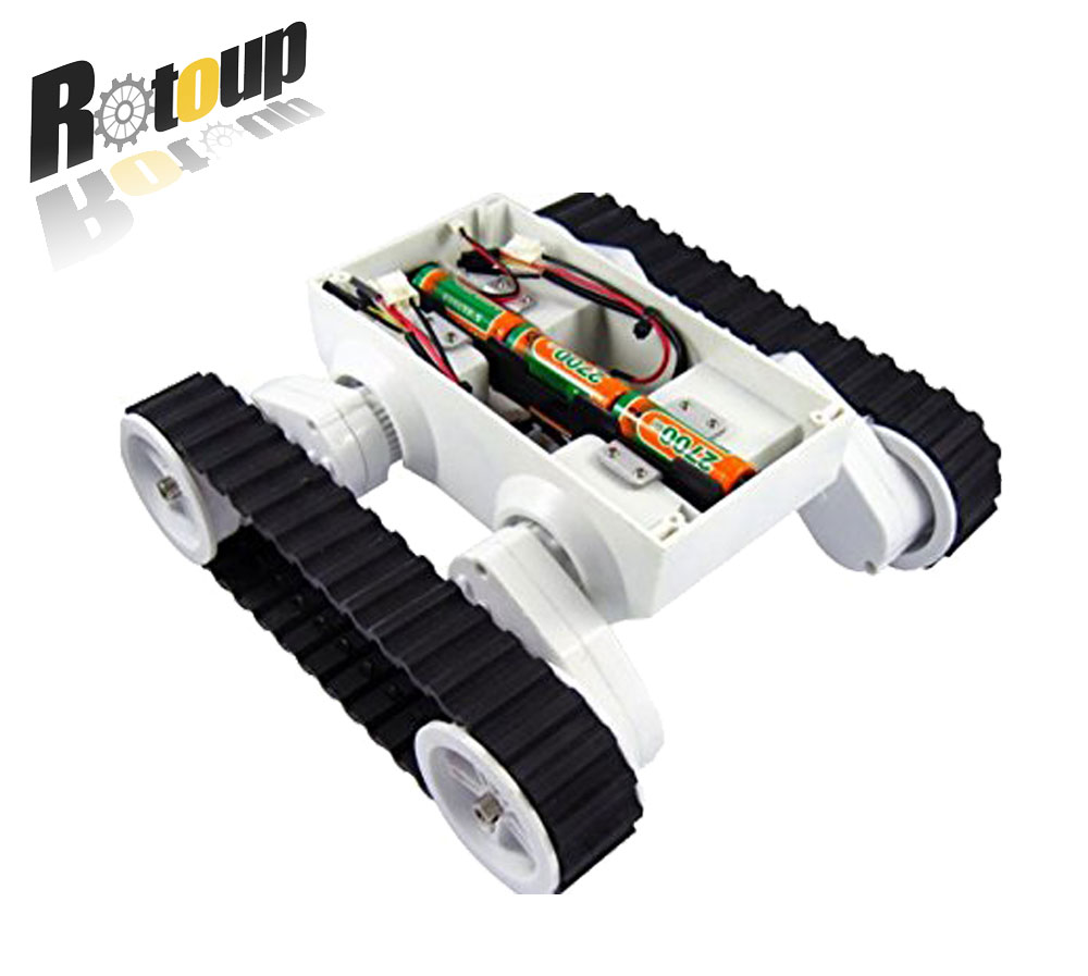 Rotoup Track Tank Robot Chassis Kits for Arduino Smart car Avoidance robot Platform chasis kit wire control tank crawler #RBP018 cheap d2 1 smart robot car kits tracking car photosensitive robot kits parts for diy electric toy no battery