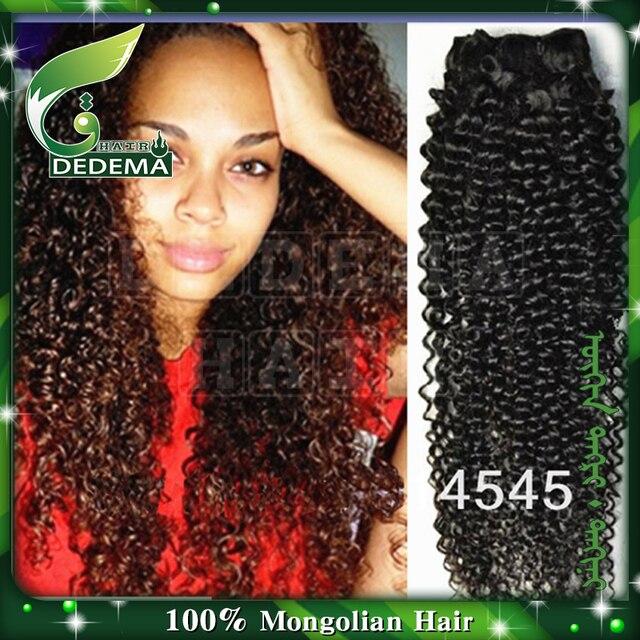Mongolian Kiky Curly Virgin Hair Weave Hair Products 3pcs Lotgrade