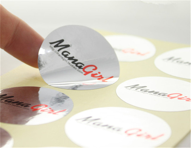 1000pcs customized glossy silver anti static stickers labels custom durable phones battery adhesive stickers