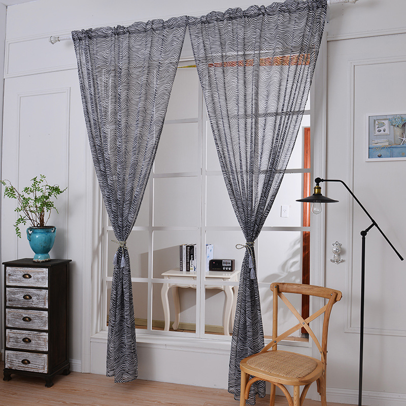 2018 sheer tulle curtains for bedroom Leopard window children Curtains for Living Room kitchen curtains tulle sheers 1pc in Curtains from Home Garden