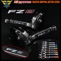 Laser Logo(FZ8) Full Titanium CNC  Folding Extendable Motorcycle Brake Clutch Levers For Yamaha FZ8 2011 2012 2013 2014 2015