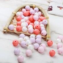 TYRY.HU 20PCS Baby Teether Toys Handmake Silicone Ring Teethers Food Grade Silic