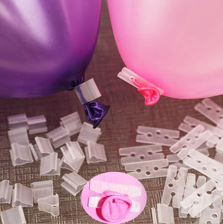 100 Pieces Balloon Sealing Clips Modeling Clips Wedding