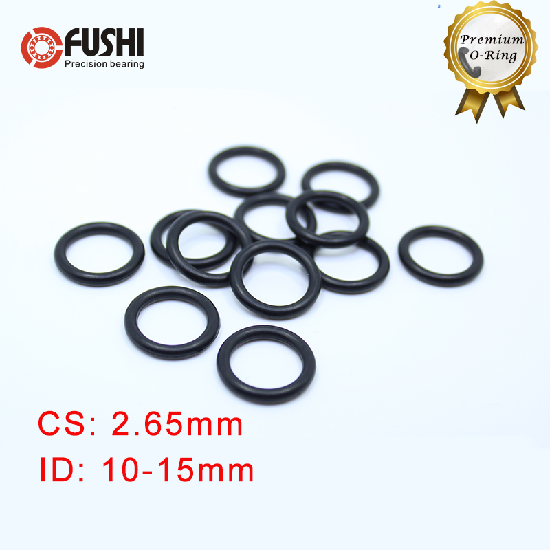 50pcs O-Rings Nitrile Rubber 5mm-19mm OD 1.5mm Width Seal Rings Sealing Gasket