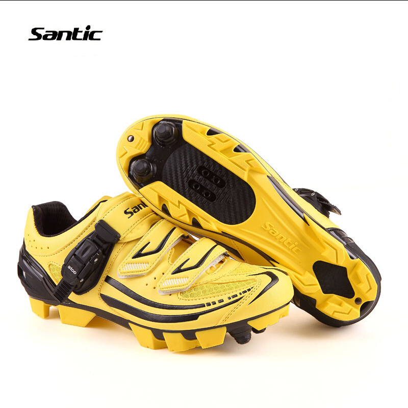 Santic Professional Bicycle Cycling Shoes Men MTB Bike Self-Locking Shoes Breathable Cleated Nylon Sole Athletic Shoes Santic santic men outdoor road cycling shoes nylon tpu sole bike shoes breathable self lock shoes ultralight bicycle shoes sapatos
