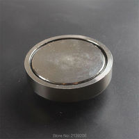 1pcs 120kg Pulling Mounting D60mm Strong Powerful Neodymium Magnetic Pot With Ring Fishing Gear Deap Sea