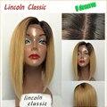 T # 1b #27 Color brasileño del pelo humano Glueless pelucas delanteras del cordón del pelo humano de la peluca Ombre cordón del cabello humano pelucas para mujeres negras