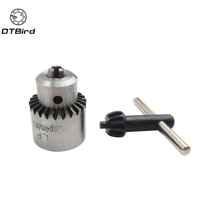 Micro Motor Drill Chucks Clamping 0.3-4mm Jt0 Taper Mounted Chuck With Chuck Key 3.17mm Brass Mini Electric Motor Shaft DT7
