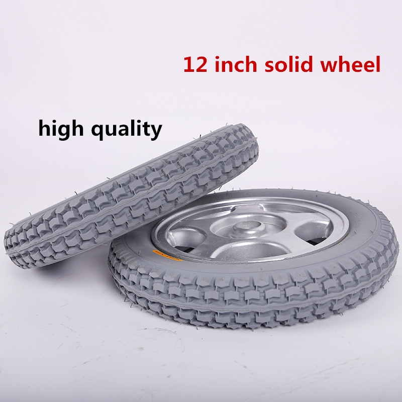 New advanced products low price good quality 12-inch solid wheels for wheelchairs
