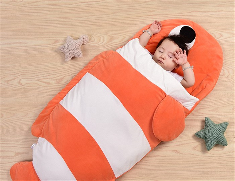 Goldfish Blanket Towel Baby Envelopes Newborn Infant Sleeping Bag Cartoon Fish Children Blanket Swaddle Baby Sleeping Bag