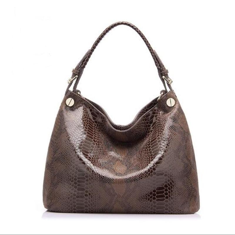 ФОТО Women Serpentine Genuine Leather Handbag  Luxury Hollow Out Printing Shoulder Bag Designer Neverfull Messenger Bag Crossbody Sac