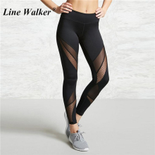 Купить с кэшбэком Yoga Pants Women Leggings for Fitness Mesh Patchwork Push Up Legging Gym Booty Sport Tights Sportswear Running Legency