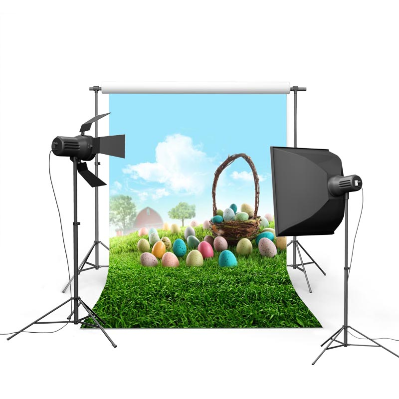 Easter Basket Photographic Backgrounds Vinyl Photo Backdrops Easter Eggs Backgrounds For Photo Studio Photography Props Easter