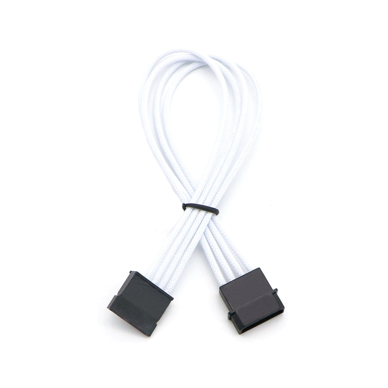 Muticolor Color Single Sleeved IDE Molex 4Pin to Sata Power Adapter Cable. цена