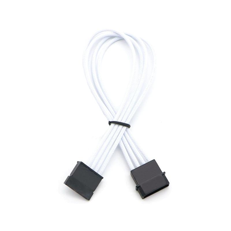 цена на Muticolor Color Single Sleeved IDE Molex 4Pin to Sata Power Adapter Cable.