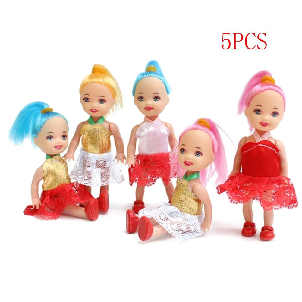 5Pcs Popular Fashion Dolls Toys For Girl doll Dolls Super Cute Small Dolls Toy For Children Wholesale 10cm