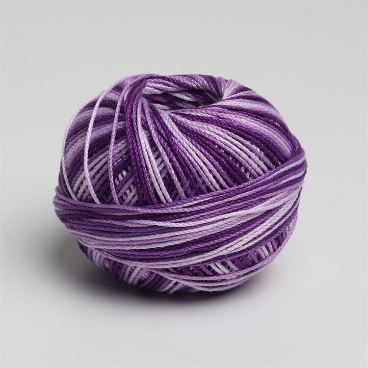 Размер 3 хлопок жемчуг пестрый 50 грамм мяч египетская длинноштапельная хлопковая пряжа газированная двойная мерсеризованная 6 нитей плетение - Цвет: 162