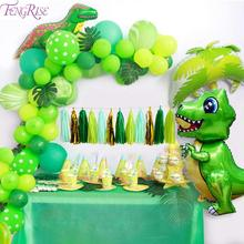 FENGRISE Foil Balloon Dinosaur Party Decor Birthday Decoration Kids Gift Rubber Bracelet Baby Shower Jungle