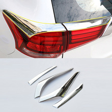 For Mitsubishi Outlander 2016 2017 ABS Chrome Taillight Streamer Trim Rear Tail font b Lamp b