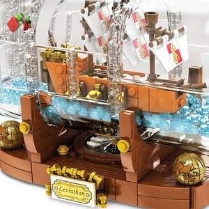Image 5 - Lepinblocks корабль со светодиодсветильник кой Лодка в бутылке 21313 техника идеи Lepining Playmobil строительные блоки кирпичи детские игрушки для детей